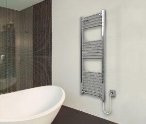Classic Chrome Electric Towel Rail