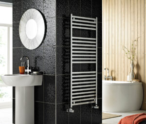Contemporary Chrome Electric Towel Rail