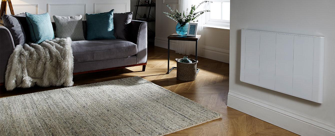 Slimline Curve White Living Room