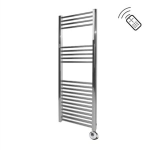 Classic Chrome Remote Control Towel Rail 1200 x 500