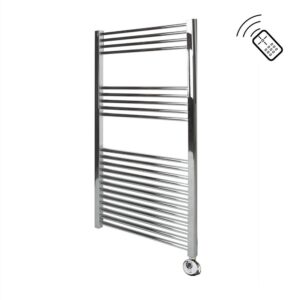 Classic Chrome Remote Control Towel Rail 1200 x 600