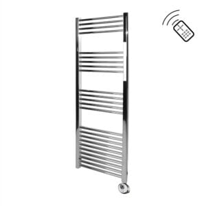 Classic Chrome Remote Control Towel Rail 1400 x 500