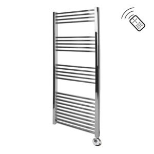 Classic Chrome Remote Control Towel Rail 1400 x 600