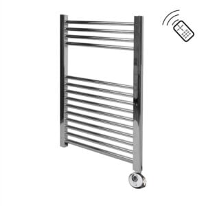 Classic Chrome Remote Control Towel Rail 750 x 500