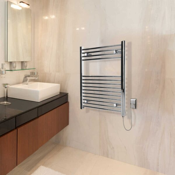 Classic Chrome Electric Towel Rail