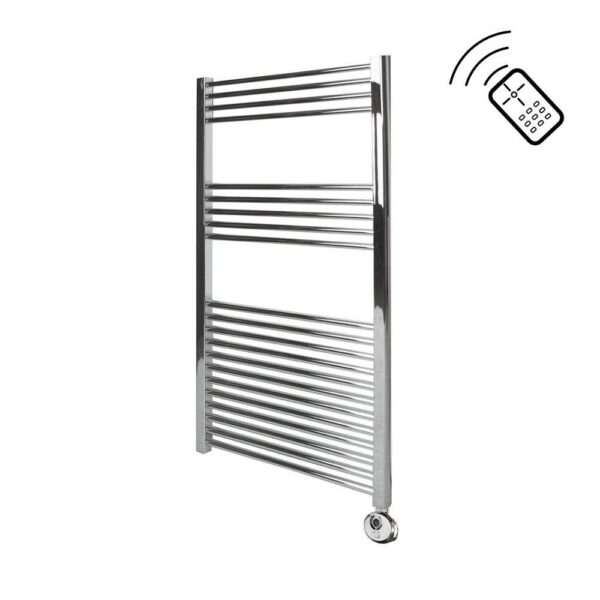 Classic Chrome Electric Towel Rail Remote