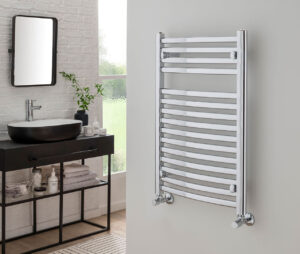 Affinity Curve Electric Towel Rail Chrome