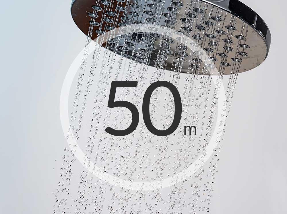 Shower ready in 50 mins