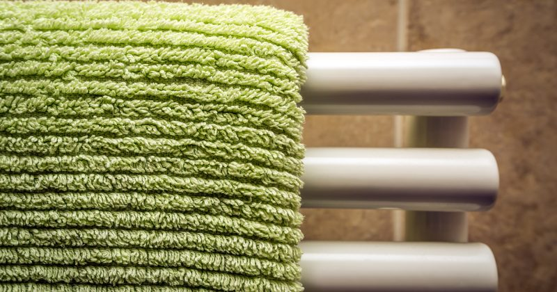 how to fit a heated towel rail